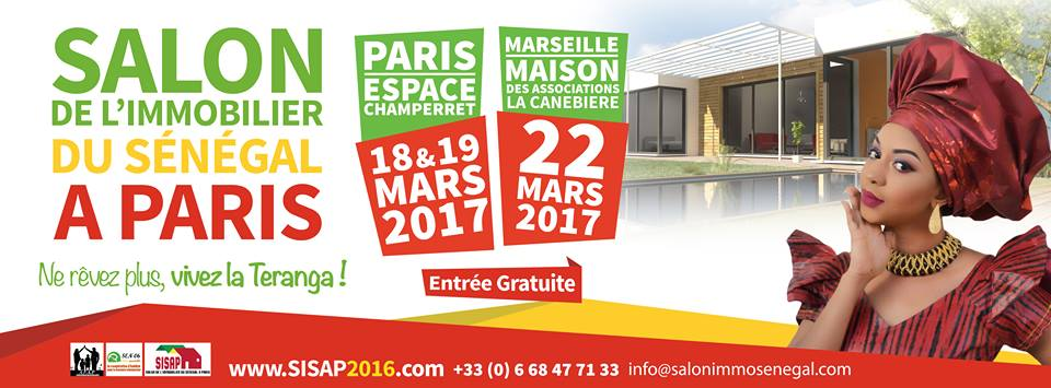 Salon de l immobilier du s n gal paris sisap 2017 le for Salon de l immobilier marseille