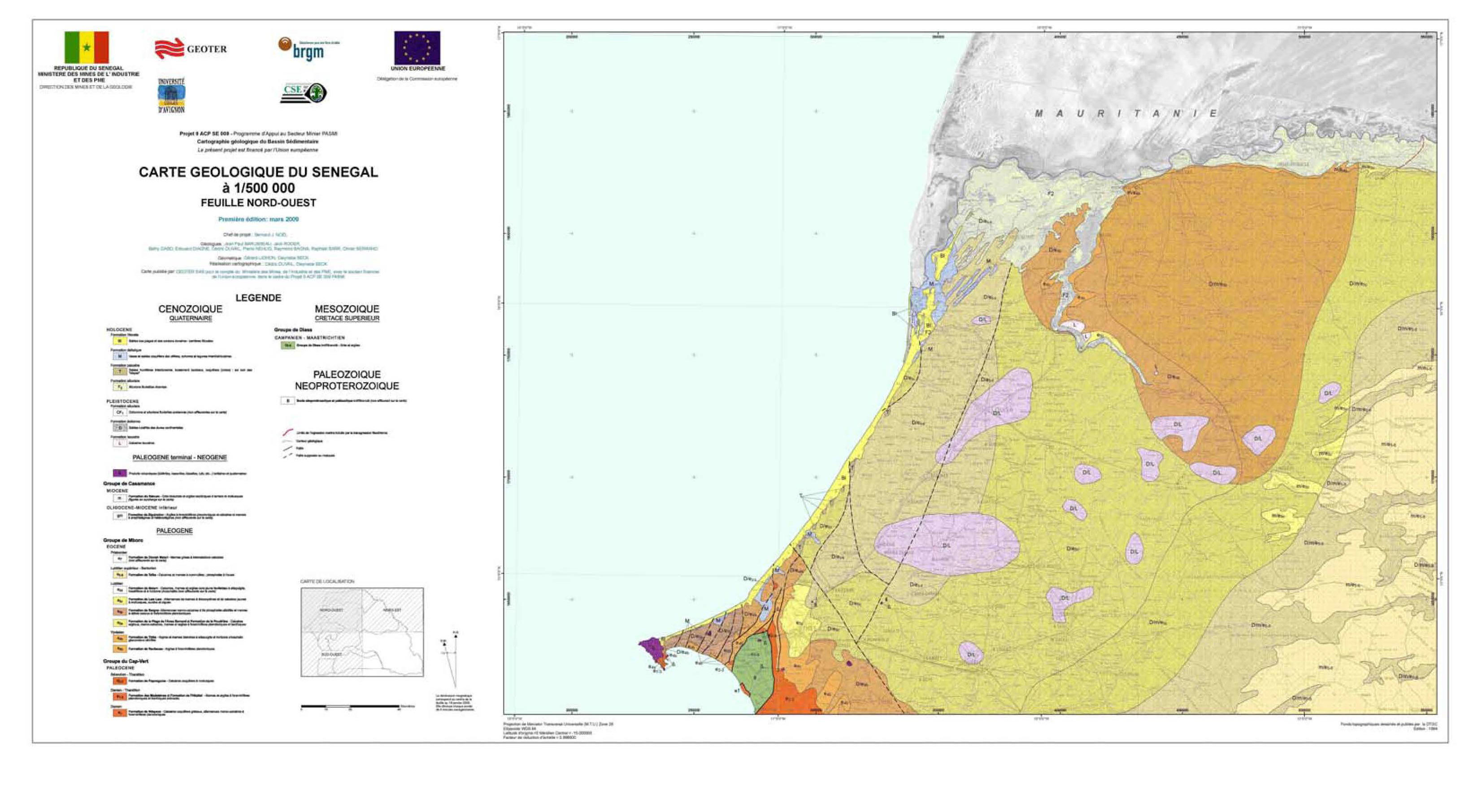 Carte Geologique Australie.Cartes Geologiques Du Senegal Au Senegal Le Cœur Du Senegal