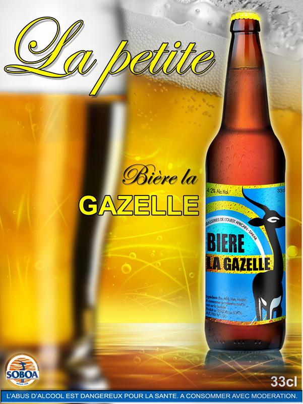 Affiche Biere Gazelle 33cl