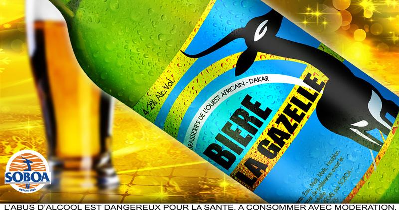 Affiche Biere Gazelle 50cl
