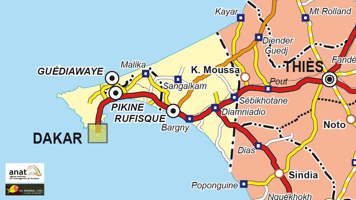 Carte Senegal Cap Vert.Cartes Du Senegal Et Des Differentes Regions Au Senegal Le