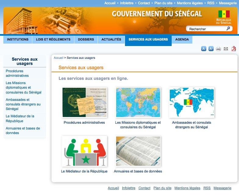 un nouveau site web pour le gouvernement du s n gal au s n gal le c ur du s n gal. Black Bedroom Furniture Sets. Home Design Ideas