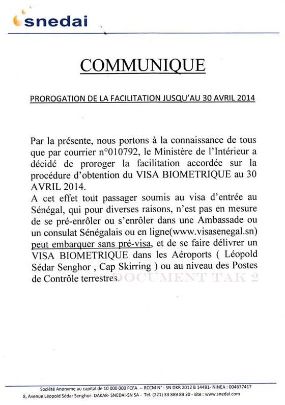 Visa Pour Le Sénégal Au Sénégal Le Cœur Du Sénégal