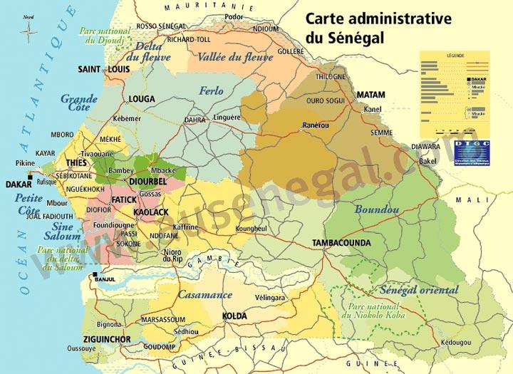 Cartes Du Senegal Et Des Differentes Regions Au Senegal Le Cœur Du Senegal