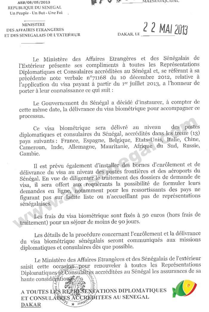 Visa Pour Le Senegal Au Senegal Le Cœur Du Senegal