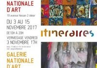 Exposition : « Itinéraires » à la galerie nationale d'art