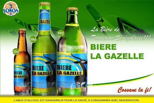 Les trois formats de Bières la Gazelle