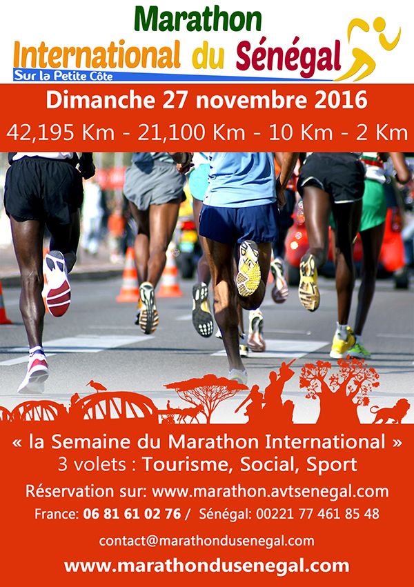 Affiche Marathon international du Sénégal