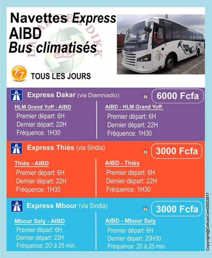 Navettes express AIBD