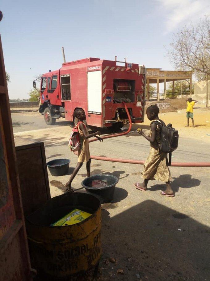 Pénurie d'eau potable à Fimela